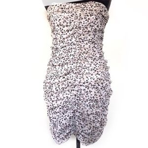 BAR III animal print strapless dress